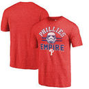 Philadelphia Phillies Fanatics Branded MLB Star Wars Empire Tri-Blend T-Shirt – Red