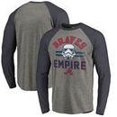 Atlanta Braves Fanatics Branded MLB Star Wars Empire Raglan Long Sleeve T-Shirt – Heather Gray