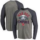 Boston Red Sox Fanatics Branded MLB Star Wars Empire Raglan Long Sleeve T-Shirt – Heather Gray