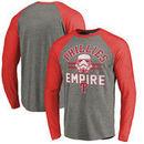 Philadelphia Phillies Fanatics Branded MLB Star Wars Empire Raglan Long Sleeve T-Shirt – Heather Gray