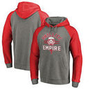 Philadelphia Phillies Fanatics Branded MLB Star Wars Empire Tri-Blend Pullover Hoodie – Heather Gray