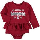 Indiana Hoosiers Colosseum Girls Infant Rock-A-Bye Long Sleeve Skirted Creeper - Crimson