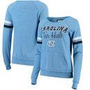 North Carolina Tar Heels Colosseum Stormin The Castle Raw Edge Crewneck Sweatshirt - Heathered Carolina Blue