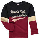 Florida State Seminoles Colosseum Girls Youth Rockyroad Pullover Fleece Crew Sweatshirt - Heathered Black/Garnet