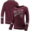 Texas A&M Aggies Colosseum Women's Giant Dreams Raw Edge Long Sleeve T-Shirt - Heathered Maroon