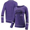TCU Horned Frogs Colosseum Women's Giant Dreams Raw Edge Long Sleeve T-Shirt - Heathered Purple