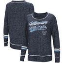 Villanova Wildcats Colosseum Women's Giant Dreams Raw Edge Long Sleeve T-Shirt - Heathered Navy
