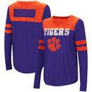 Clemson Tigers Colosseum Women's My Way Striped Long Sleeve T-Shirt - Purple/Orange