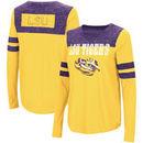 LSU Tigers Colosseum Women's My Way Striped Long Sleeve T-Shirt - Gold/Purple