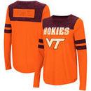 Virginia Tech Hokies Colosseum Women's My Way Striped Long Sleeve T-Shirt - Orange/Maroon