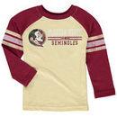 Florida State Seminoles Colosseum Toddler Hidden Cavern Striped Long Sleeve T-Shirt – Gold/Garnet