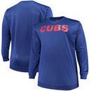 Chicago Cubs Majestic Big & Tall Poly Fleece Crew Neck Sweatshirt - Royal