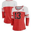 James Harden Houston Rockets Fanatics Branded Women's Starstruck Name & Number Tri-Blend 3/4-Sleeve Raglan V-Neck T-Shirt - Red