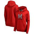 Maryland Terrapins Fanatics Branded Women's Static Logo Pullover Hoodie - Red