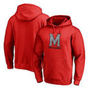 Maryland Terrapins Fanatics Branded Static Logo Pullover Hoodie - Red