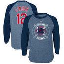 Francisco Lindor Cleveland Indians Youth Name & Number Tri-Blend 3/4-Sleeve Raglan T-Shirt - Navy