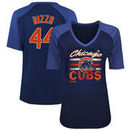 Anthony Rizzo Chicago Cubs Majestic Women's Plus Size Name & Number 3/4-Sleeve Raglan T-Shirt - Royal