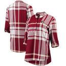 Florida State Seminoles Women's Plaid Woven Tunic Long Sleeve Shirt - Garnet