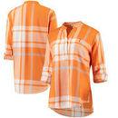 Tennessee Volunteers Women's Plaid Woven Tunic Long Sleeve Shirt - Tennessee Orange