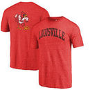 Louisville Cardinals Fanatics Branded Vault Two Hit Arch T-Shirt - Heathered Red