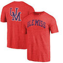 Ole Miss Rebels Fanatics Branded Vault Two Hit Arch T-Shirt - Heathered Red