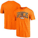 Denver Broncos NFL Pro Line by Fanatics Branded Wide Arch Tri-Blend T-Shirt - Orange