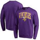 Minnesota Vikings NFL Pro Line by Fanatics Branded Wide Arch Pullover Sweatshirt – Purple