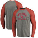 Oklahoma Sooners Fanatics Branded Distressed Pick-A-Sport Tri-Blend Long-Sleeve T-Shirt - Ash