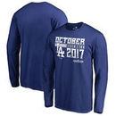 Los Angeles Dodgers Fanatics Branded 2017 Postseason Participant Double Play Long Sleeve T-Shirt – Royal