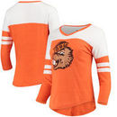 Oregon State Beavers Fanatics Branded Women's Vault Primary Logo Raglan 3/4 Sleeve Tri-Blend Long Sleeve T-Shirt – Heathered Ora