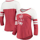 Washington State Cougars Fanatics Branded Women's Vault Primary Logo Raglan 3/4 Sleeve Tri-Blend Long Sleeve T-Shirt – Heathered