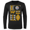 Pittsburgh Steelers Youth Holiday Rooftop Reindeer Long Sleeve T-Shirt – Black