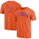Clemson Tigers Fanatics Branded Vault Two Hit Arch T-Shirt - Heathered Orange