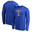 Texas Rangers Fanatics Branded Static Logo Long Sleeve T-Shirt - Royal