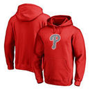 Philadelphia Phillies Fanatics Branded Static Logo Pullover Hoodie - Red