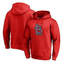 St. Louis Cardinals Fanatics Branded Static Logo Pullover Hoodie - Red