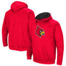 Louisville Cardinals Colosseum Big Logo Pullover Hoodie - Red