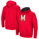 Maryland Terrapins Colosseum Big Logo Pullover Hoodie - Red
