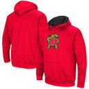 Maryland Terrapins Colosseum Secondary Big Logo Pullover Hoodie - Red