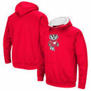 Wisconsin Badgers Colosseum Secondary Big Logo Pullover Hoodie - Red