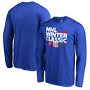 New York Rangers Fanatics Branded 2018 NHL Winter Classic Ice Big & Tall Long Sleeve T-Shirt – Royal