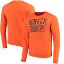 Denver Broncos NFL Pro Line by Fanatics Branded Straight Out Pullover Sweatshirt – Orange