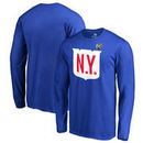 New York Rangers Fanatics Branded 2018 NHL Winter Classic Team Primary Big & Tall Long Sleeve T-Shirt – Royal