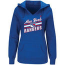 New York Rangers Majestic Women's Backchecking Hoodie - Blue