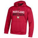 Maryland Terrapins Under Armour Bar Wordmark Armour Fleece Hoodie - Red
