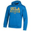 UCLA Bruins Under Armour Bar Wordmark Armour Fleece Hoodie - Blue