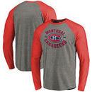 Montreal Canadiens Fanatics Branded 2017 NHL 100 Classic Vintage Iced Big & Tall Tri-Blend Long Sleeve Raglan T-Shirt - Heather