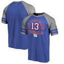 Odell Beckham Jr New York Giants NFL Pro Line by Fanatics Branded Team Elite Tri-Blend T-Shirt - Royal