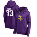 Dalvin Cook Minnesota Vikings NFL Pro Line by Fanatics Branded Women's Player Icon Name and Number Pullover Hoodie - Purple