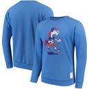 Boise State Broncos Original Retro Brand School Logo Tri-Blend Pullover Sweatshirt – Heathered Royal